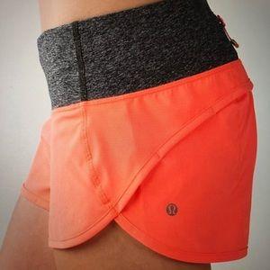 Lululemon grapefruit speed shorts